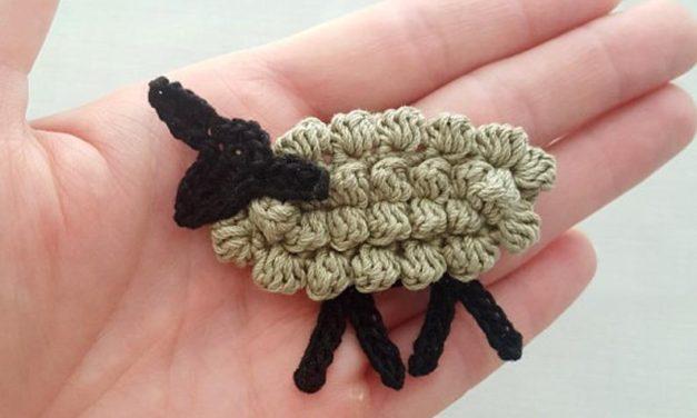 Crochet a Sweet Tiny Sheep Appliqué
