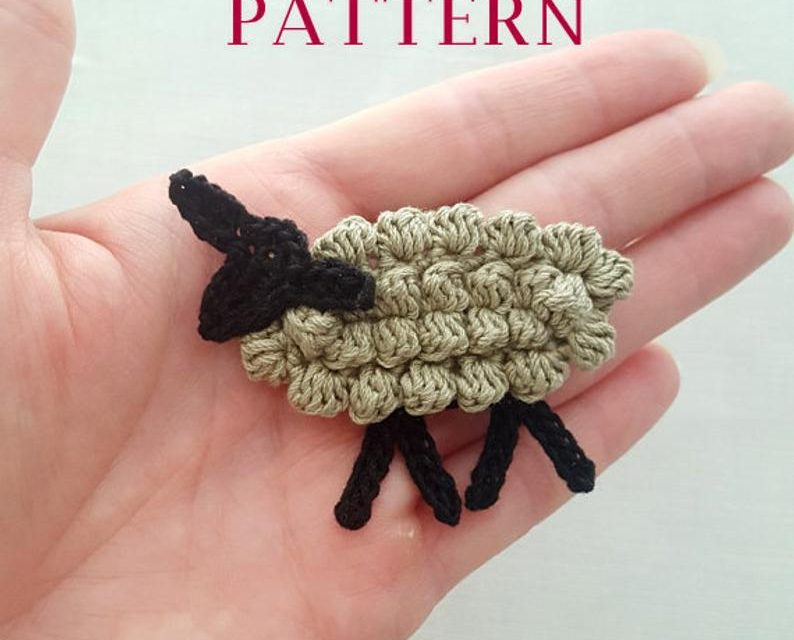 Crochet a Sweet Tiny Sheep Appliqué