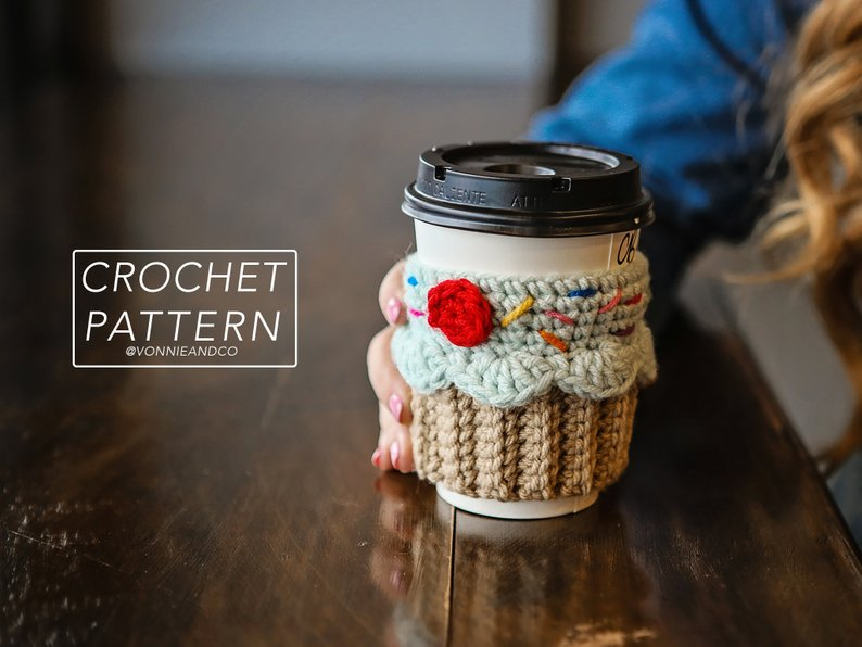Cute Cupcake Cup Cosy Pattern