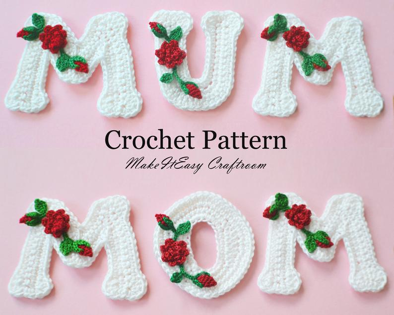 Crochet Mother's Day Applique