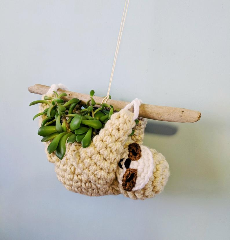 Crochet a Sloth Planter for Mother's Day