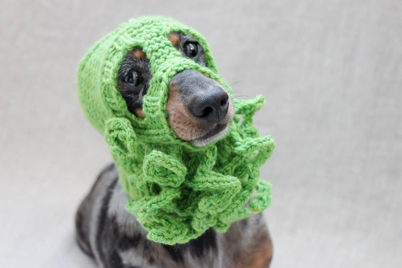 Knit a Cthulhu Dog Hat ... Doggy Cosplay at it's BEST!