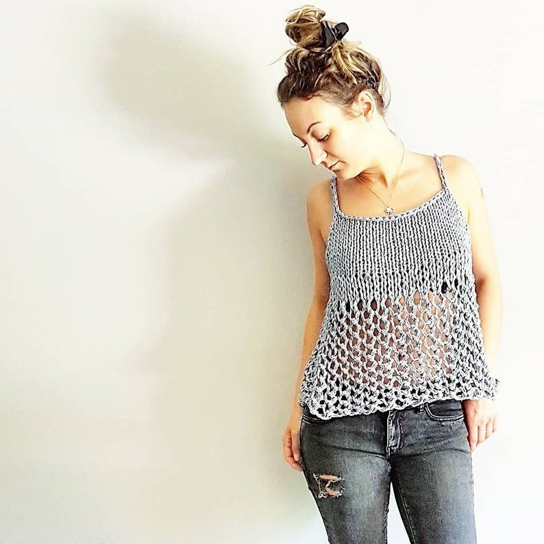 Get the pattern for this knitted tee via Etsy