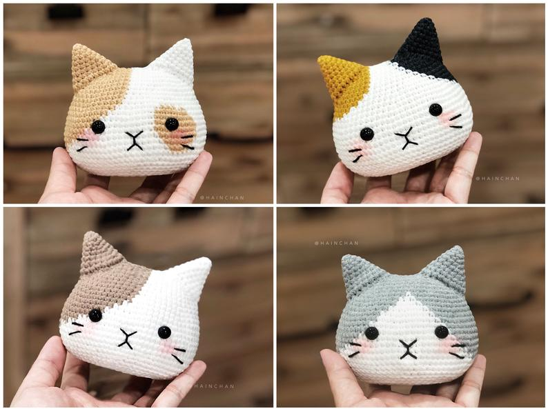Adorable Cat Head Amigurumi Patterns For Crocheters