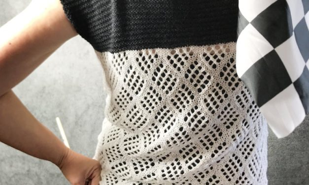 Knit a Fun Two-Tone Summer Tee … I'm In Love With This Pattern!