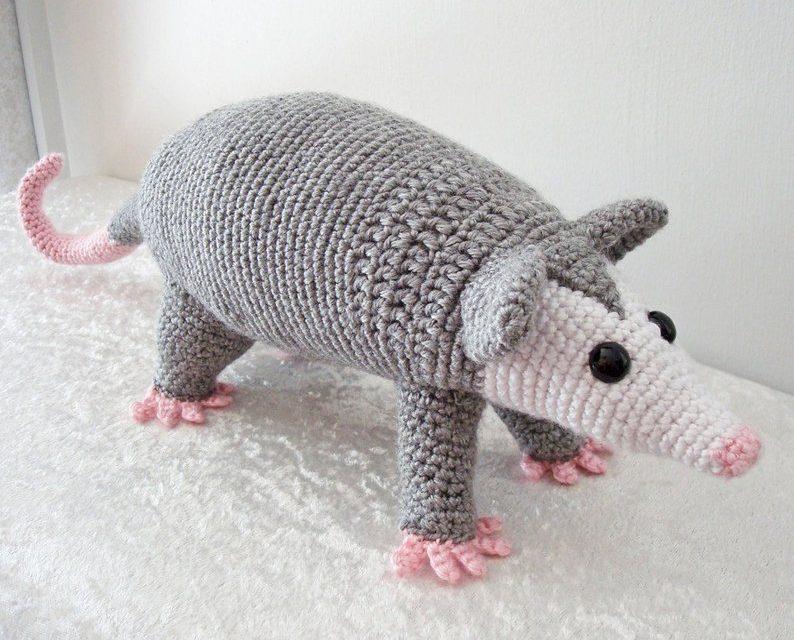 Perky Possum Patterns … These Crochet Amigurumi Are Unusual and Cute!