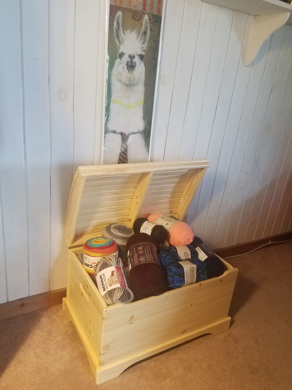 Review: Captain's Chest Wooden Toy Box - It's The Perfect Storage For Yarn!