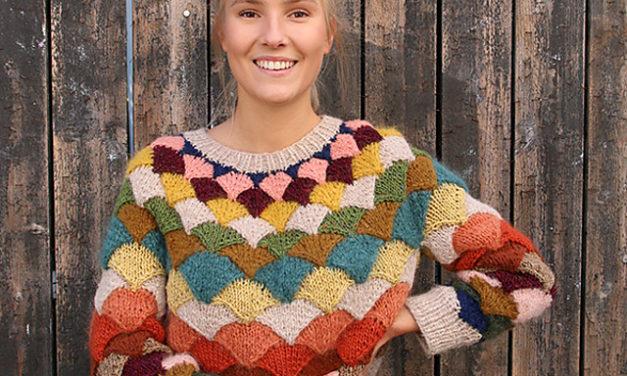 Knit a Pangolin Statement Sweater With Scarp Yarn … Gorgeous Stashbuster!