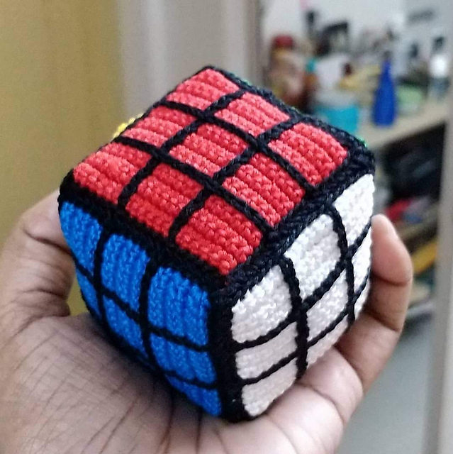 Crochet a Fun Amigurumi Rubik's Cube, Free Pattern Designed by Daisy Ransom