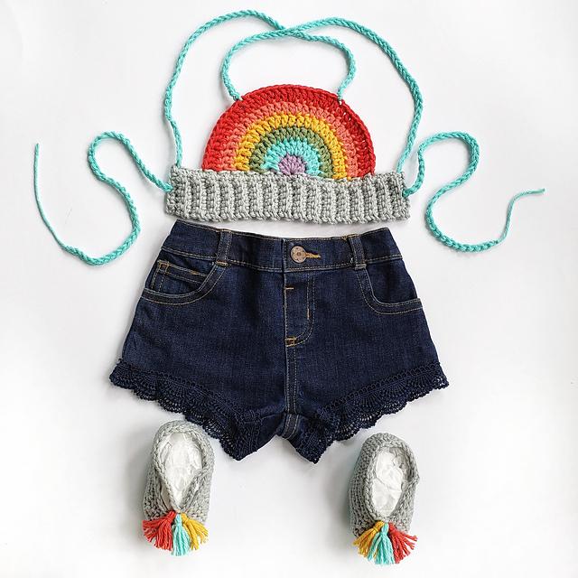 Crochet a Baby Rainbow Crop Top ... FREE Pattern!
