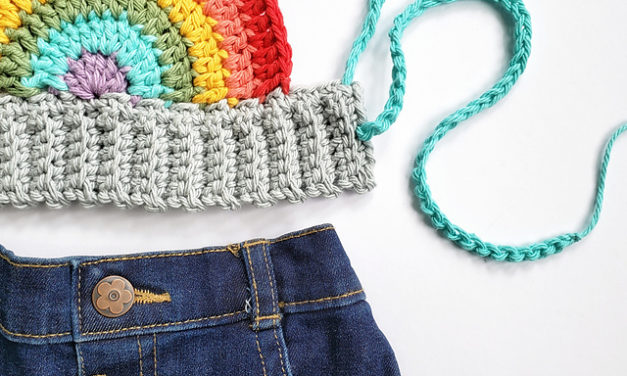 Crochet a Baby Rainbow Crop Top … FREE Pattern!