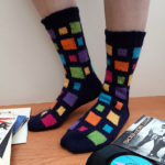 1981 Called. It's Driving a DeLorean and Wearing These 'Don't You Want Me' Socks … Free Pattern!