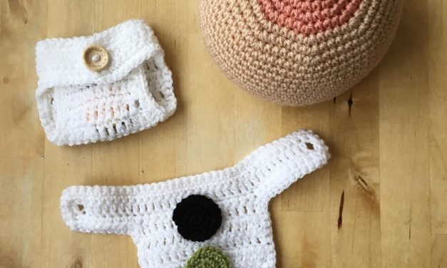 Learning The First Days of Baby Poop … Instructional Diaper Crocheted For a Midwife