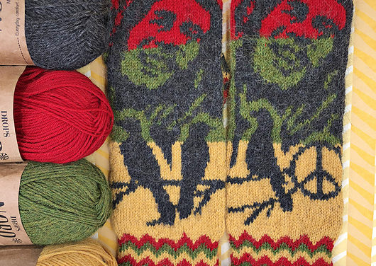 Knit a Pair of Bob Marley-Inspired Mittens, Designed By Lotta Lundin