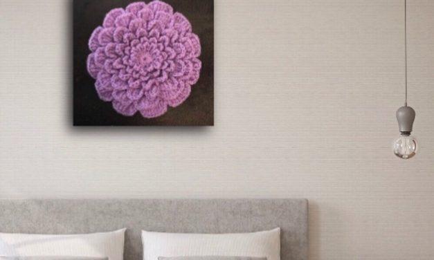'My Eternity Flower' Wall Art Crocheted By Dee Bennett