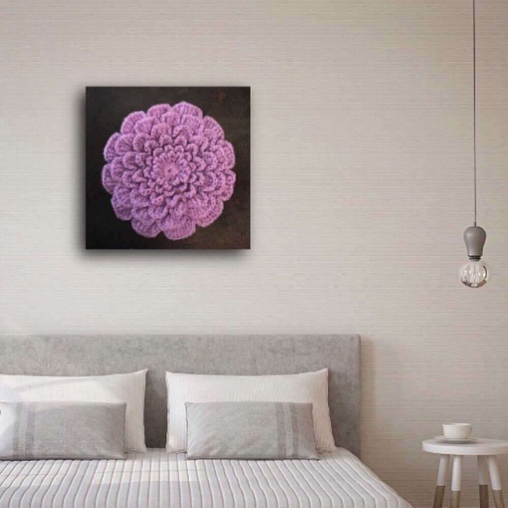 'My Eternity Flower' Wall Art Crocheted By Dee Bennett