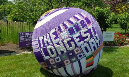 Crochet Ball Yarn Bomb For 'The Longest Day' #ENDALZ