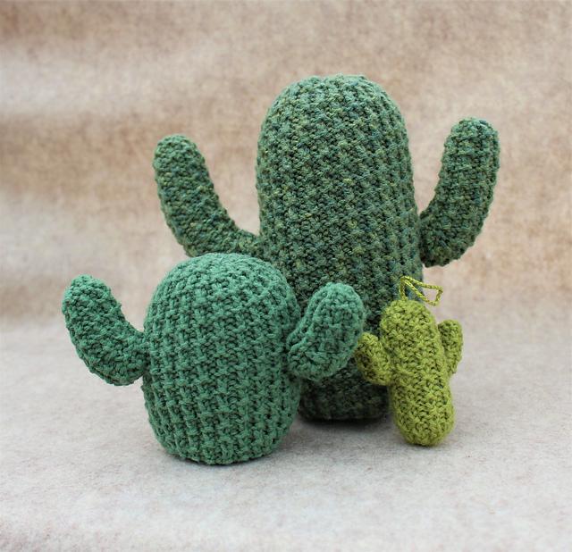 Knit a Desert Flora Cactus Designed By Fiber Chronicles