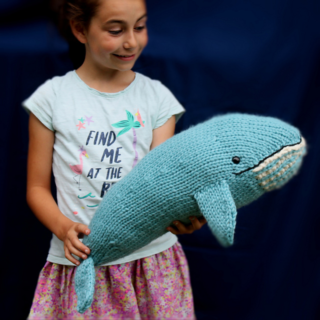 'There She Blows!' Knit a Blue Whale, Get the Pattern!