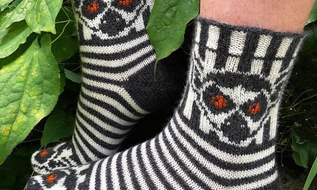 Knit a Pair of Fun Lemur Socks Designed By Jenny Penny … All Hail Julien!