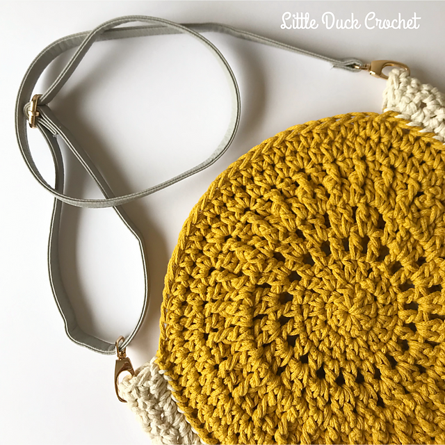 Crochet a Gorgeous Summer Mandala Bag Designed By Little Duck Crochet