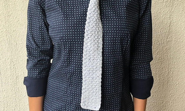 Crochet a Bohemian Scarf Tie, Perfect For Father's Day and the Pattern is FREE!