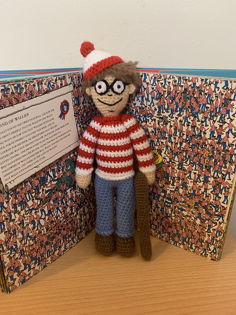 Crochet a Where's Waldo Amigurumi ... Free Pattern!