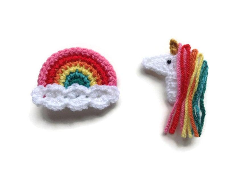Get the crochet hairclip via Etsy