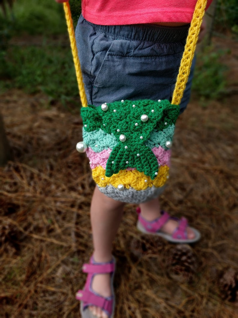 Crochet a Cute Mermaid Purse Designed by Tracy Clark of CutieGurumies