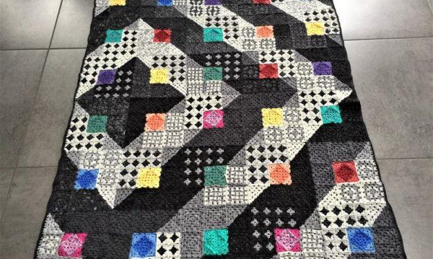 Crochet a Colored Square Blanket Crochet Pattern by Atelier Sopra … It's Not As Complicated As It Looks!