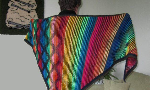 Knit an 'Illusions of Grandeur' Shawl Designed By Pat Ashforth and Steve Plummer aka Woolly Thoughts