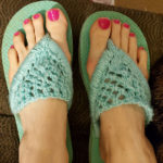 Embellish A Pair Of Flip Flops With This Quick Knit Pattern