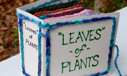 'Leaves' of Plants – This Genius Maker Crocheted a Book of Plant Fibers For a Home Schooler!