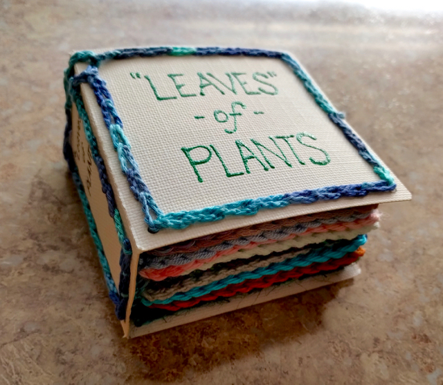 'Leaves' of Plants - This Genius Maker Crocheted a Book of Plant Fibers For a Home Schooler!