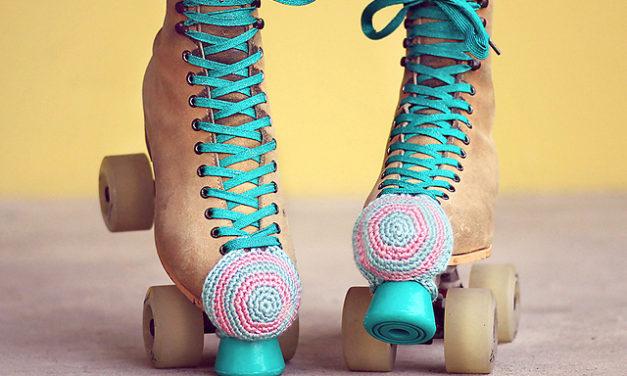 FREE Roller Skate Toe Guards Pattern by Julie King of Gleeful Things Crochet