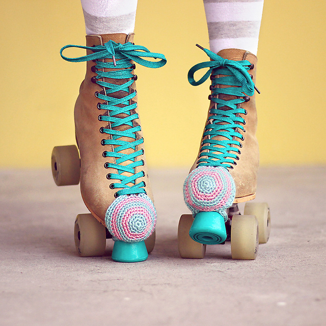 FREE Roller Skate Toe Guards Pattern by Julie King