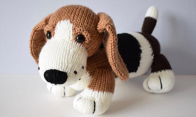 Knit a Cute Herbie the Bassett Hound Designed By Amanda Barry