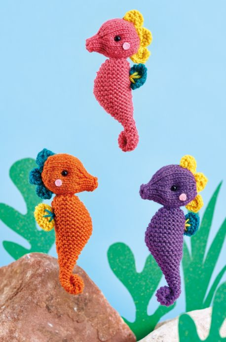 Seahorses and Party Pigs - Two Free Patterns For YOU!
