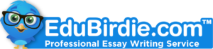 logo of research paper writing service Edubirdie