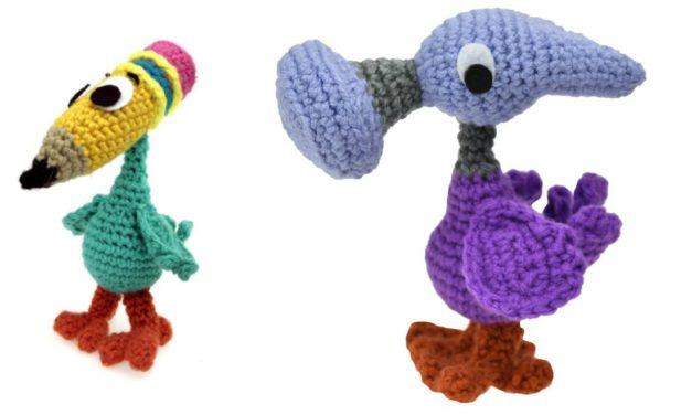 Alice In Wonderland Fans Will Adore These Hammer Bird & Pencil Bird Amigurumi Patterns