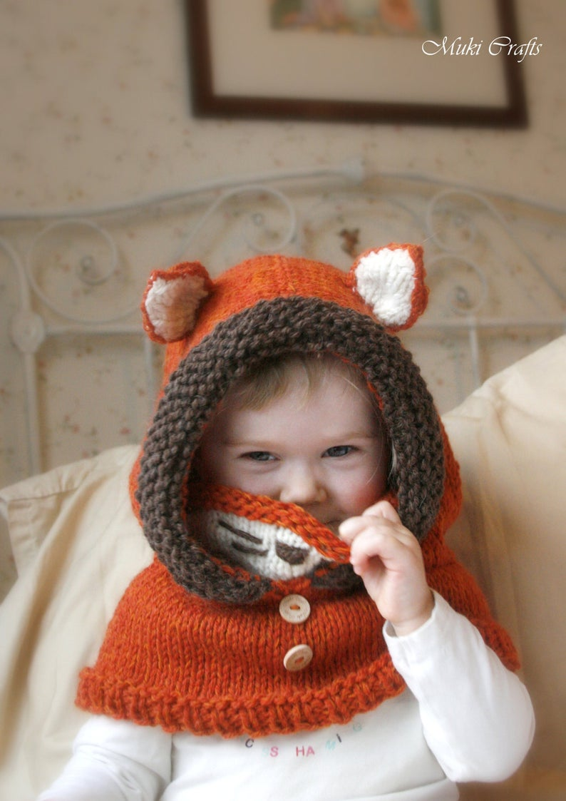 Get the fox hat pattern via Etsy