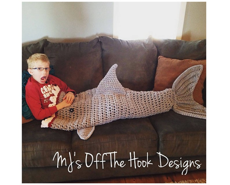 Get the pattern for Shark Week! #sharkweek #knitting #crochet