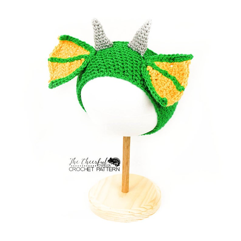 Get the fun crochet pattern by Charlyn Smith of The Cheerful Chameleon via Etsy