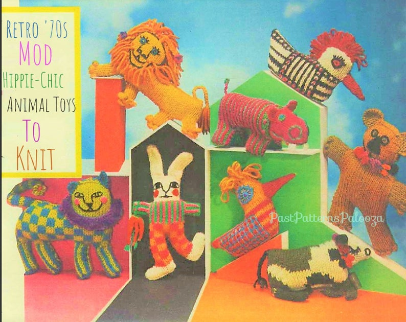 Knit a Funky Set of Psychedelic Amigurumi With Unique Vintage Patterns From 1968