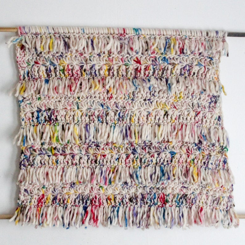 Get the wall hanging pattern via Etsy