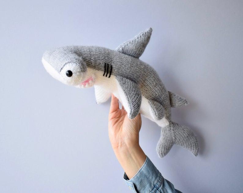 Get the pattern for Shark Week! #sharkweek #knitting #crochet