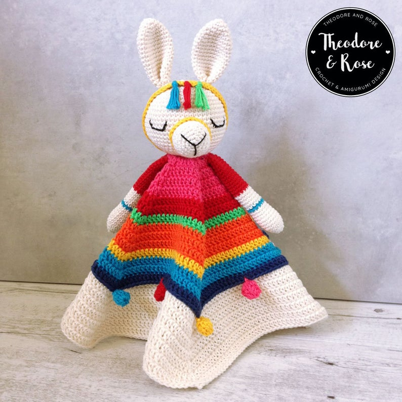 Crochet an Inka The Little Llama Lovely ... Sweet Security Blanket For a Wee One