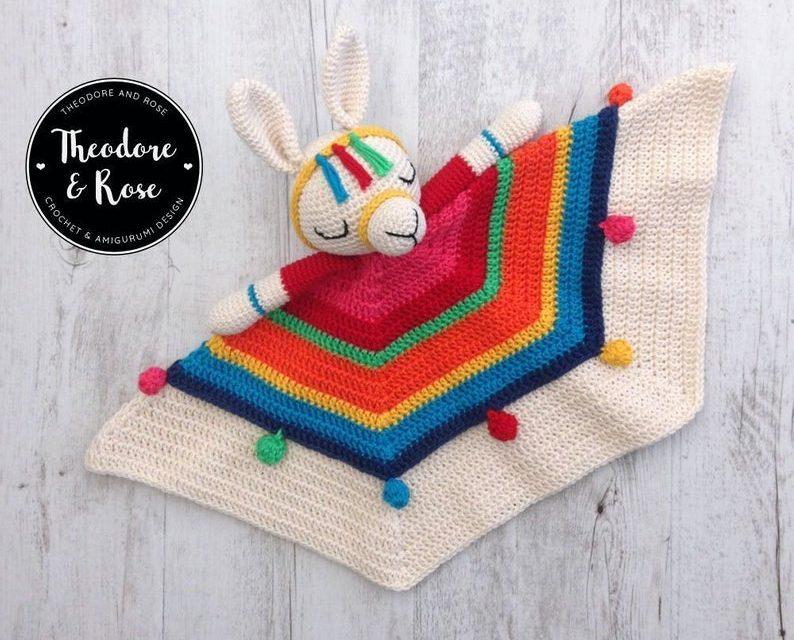 Crochet an Inka The Little Llama Lovely … Sweet Security Blanket For a Wee One