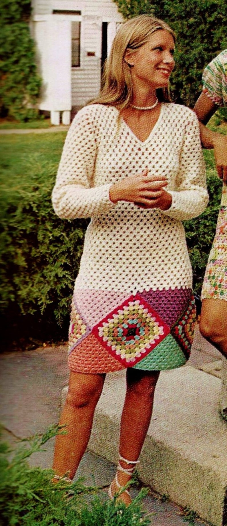 Get the retro granny square pattern via Etsy