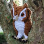 Crochet a Screech Owl Amigurumi, Pattern By The Cheerful Chameleon